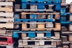 Куча красочных паллетов Стоковые Фото