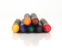 Куча красочных crayons Стоковые Фото