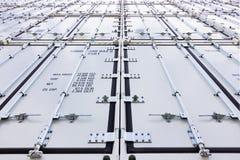 Куча крупного плана контейнеров корабля Стоковая Фотография RF
