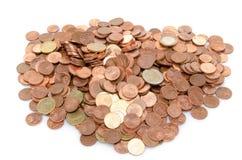 Куча много монеток Стоковые Изображения