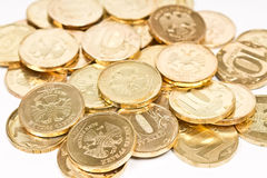 куча монетки Стоковые Изображения