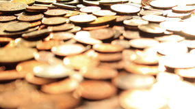 Куча монетки стоковые фото