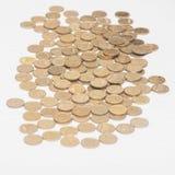 Куча монеток украинских Стоковое фото RF