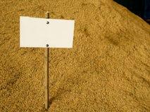 Куча неочищенных рисов Стоковые Фото