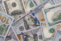 Куча нового 100 долларов США Стоковые Фотографии RF
