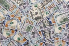 Куча нового 100 долларов США Стоковые Изображения RF
