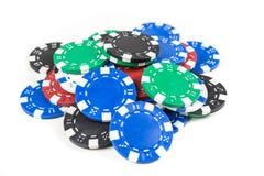 Куча обломоков покера Стоковая Фотография RF