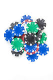Куча обломоков покера Стоковые Изображения