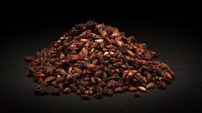 Куча органических высушенных семян гранатового дерева (granatum Punica) Стоковые Изображения RF
