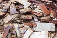 Куча отброса - старого деревянного пола Стоковая Фотография RF