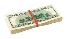 Куча 100 долларовых банкнот Стоковые Изображения