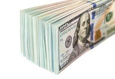 Куча 100 долларовых банкнот Стоковое Изображение