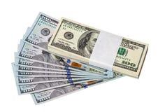 Куча 100 долларовых банкнот Стоковое Изображение RF