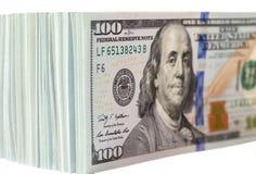 Куча 100 долларовых банкнот Стоковые Фото