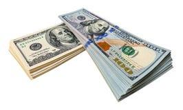 Куча 100 долларовых банкнот Стоковое фото RF