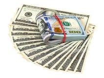 Куча 100 долларовых банкнот Стоковая Фотография RF