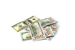 Куча долларов, подсчитывая Стоковое Фото
