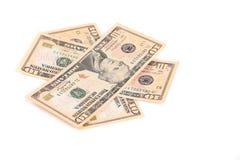 Куча 10 долларов счета Стоковое Изображение