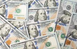 Куча 100 долларов Стоковое фото RF