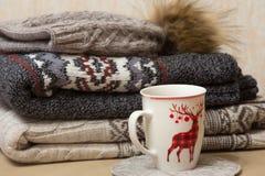 Куча одежд зимы Стоковые Фото