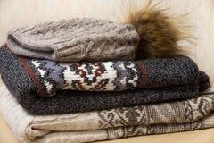 Куча одежд зимы Стоковое Изображение RF