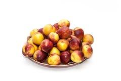 Куча персиков Стоковые Фотографии RF