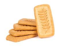 Куча печений печенья изолированных на белой предпосылке Стоковые Изображения RF
