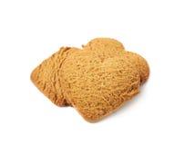 Куча печений пряника сердца форменных Стоковая Фотография