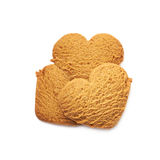 Куча печений пряника сердца форменных Стоковое Изображение RF