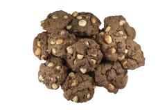 Куча печений шоколада макадамии Стоковое Изображение