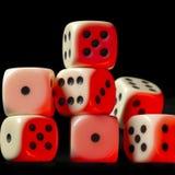 Куча плашек загоранных красным цветом белых Стоковая Фотография