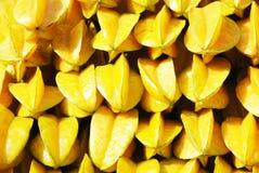 куча плодоовощей carambola предпосылки Стоковое Изображение RF