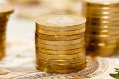 Куча польских монеток Стоковые Изображения RF