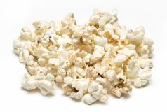 Куча попкорна изолированная на белой предпосылке Стоковая Фотография