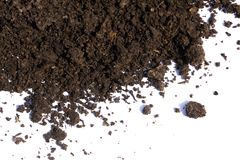 Куча почвы изолированная на белой предпосылке Стоковые Фото