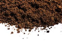Куча почвы изолированная на белой предпосылке Стоковая Фотография