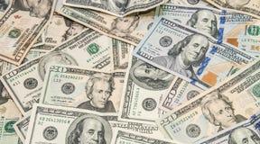 Куча предпосылки долларов Стоковые Изображения