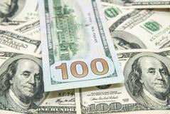 Куча предпосылки долларов Стоковая Фотография RF