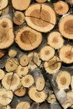 Куча предпосылки текстуры деревянного огня - вертикали - portret Стоковые Фотографии RF