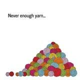Куча пряжи Много шарики пряжи Квадратное знамя Стоковая Фотография