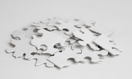 Куча пустых частей головоломки Стоковые Фотографии RF