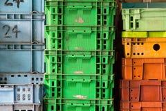 Куча пластмасового контейнера Стоковое фото RF
