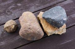 Куча различных камней Стоковое Изображение