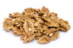 Куча раскрытых грецких орехов Стоковая Фотография RF