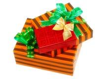 Куча рождества, коробки подарка цвета Нового Года. Стоковое Изображение