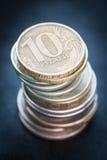 Куча русских монеток. Стоковая Фотография RF