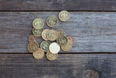 Куча русских монеток Стоковое Фото