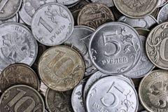 Куча русских монеток Стоковое Изображение