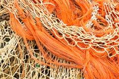 Куча рыболовных сетей и веревочки Стоковые Фотографии RF