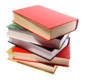 куча совмещенная книгами Стоковая Фотография RF
